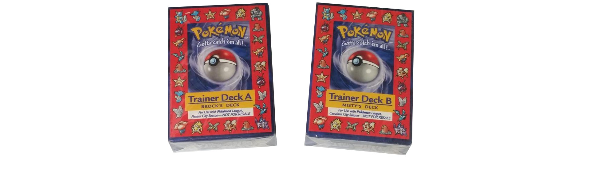 Brock's Trainer Deck A and Misty's Trainer Deck B