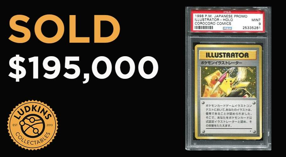 Rare Pokémon Illustrator Card Sells For $195,000