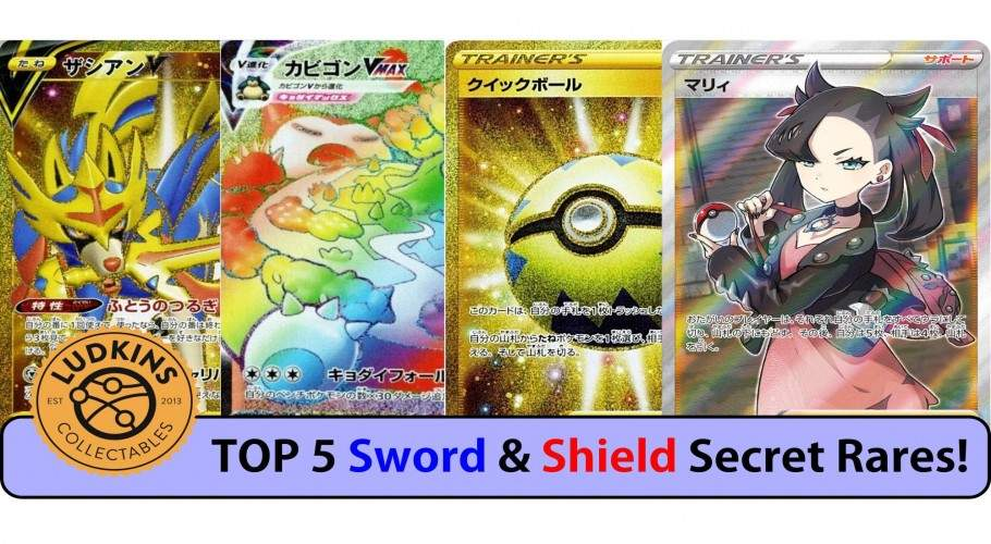 Top 5 Secret Rare Cards From Pokémon Sword & Pokémon Shield!