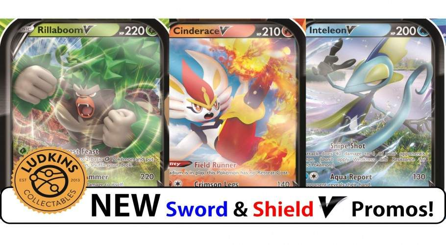 ​Four NEW Sword & Shield Pokémon V Promo Cards!